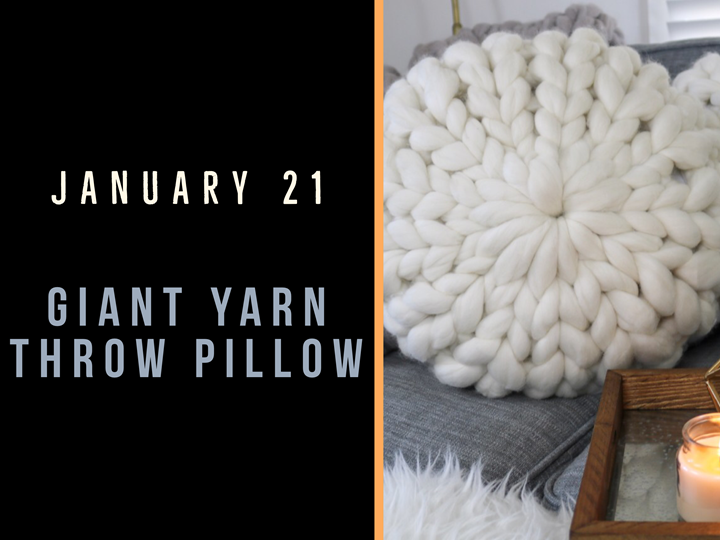 Giant Yarn Throw Pillow - Create Art on Tuesdays