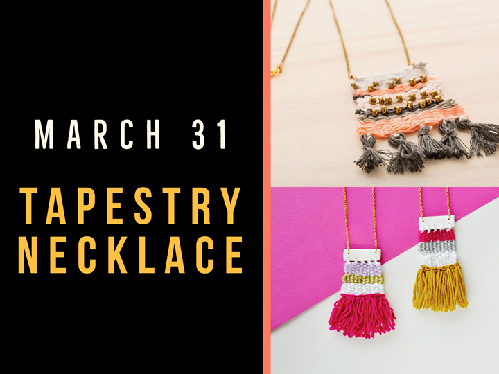 Create a Tapestry Necklace - Create Art on Tuesdays